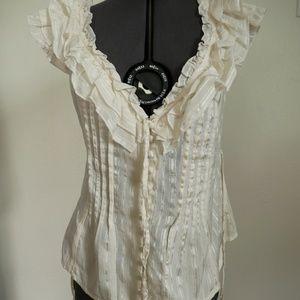 Bebe silk/cotton blouse